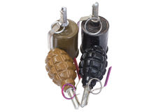Hand grenades Stock Images