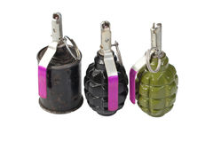 Hand grenades Stock Photography