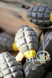 Hand grenades Royalty Free Stock Images