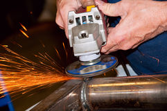 Hand grinding Royalty Free Stock Image
