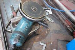 Hand grinding Stock Photo