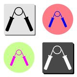 Hand grip expander trainer. flat vector icon. Hand grip expander trainer. simple flat vector icon illustration on four different color backgrounds vector illustration