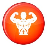 Hand grip trainer icon, flat style Stock Images