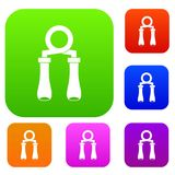Hand grip trainer set collection royalty free illustration