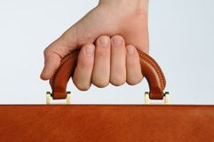 Hand gripping handle Royalty Free Stock Photography