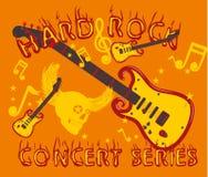 Hand guitar vector art Stock Photography