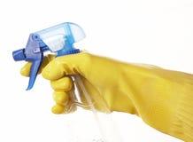 Hand in Gummihandschuh 26 Lizenzfreies Stockfoto