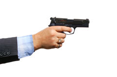 A hand with a gun Royalty Free Stock Image