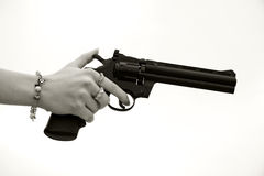 Hand gun Royalty Free Stock Photo