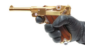 Hand with gun Royalty Free Stock Image