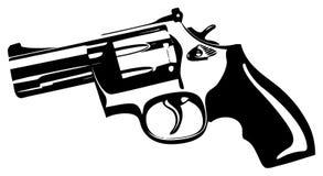 Hand Gun. Black gun on a white background royalty free illustration