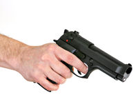 Hand gun royalty free stock image