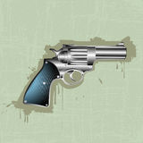 Hand gun background Royalty Free Stock Photography