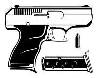 Hand Gun Royalty Free Stock Photos
