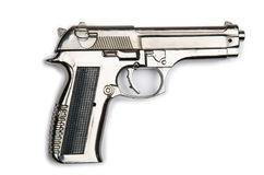 Hand gun isolated. On the white background royalty free stock photos