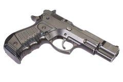 Hand gun isolated. On white background stock photo