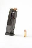 Hand gun magazine Royalty Free Stock Photography
