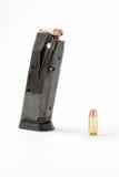 Hand gun magazine royalty free stock photography