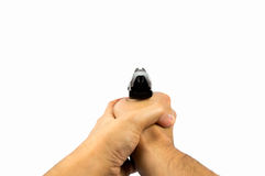 Hand with a gun Royalty Free Stock Images