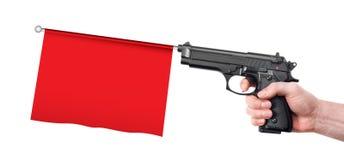 Hand gun prank Stock Image