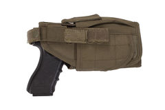 Hand gun and tactical hoster Stock Photo