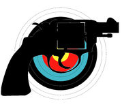 Hand Gun Target Royalty Free Stock Photo