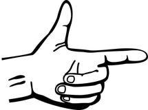 Hand gun vector illustration Royalty Free Stock Images