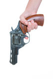 Hand with a gun Royalty Free Stock Photo