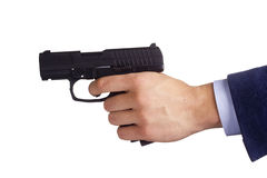 Hand with gun Stock Images