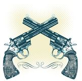 Hand guns vector illustration stock illustration