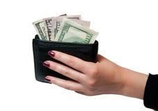 Hand hält den Fonds an Lizenzfreie Stockfotografie