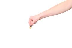 Hand hält Eurocent Lizenzfreies Stockbild