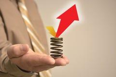 Hand hält Zeichen Lizenzfreie Stockfotos