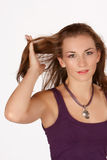 Hand in hair Royalty Free Stock Images
