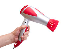 Hand with the hair dryer Royalty Free Stock Image