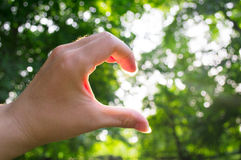 Hand half heart royalty free stock photography