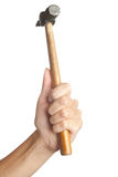 Hand with hammer Royalty Free Stock Photo