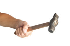 Hand with hammer Stock Photography