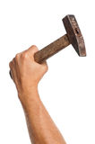 Hand with hammer Royalty Free Stock Photos