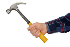 Hand with Hammer Royalty Free Stock Image