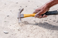 Hand of hammer Royalty Free Stock Image