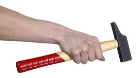 Hand and hammer Royalty Free Stock Images