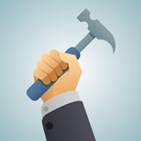 Hand hammer icon Royalty Free Stock Images