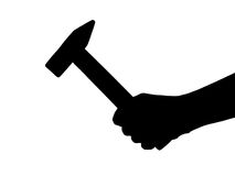 Hand with hammer Stock Photos