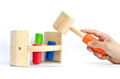 Hand Hammer knock for kid Royalty Free Stock Images