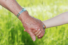 Hand in hand Royalty Free Stock Photos