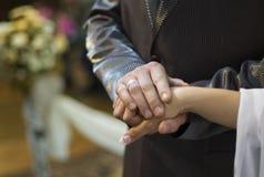 Hand in hand Royalty-vrije Stock Foto