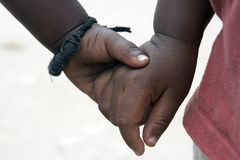 Hand in Hand Stockfotos
