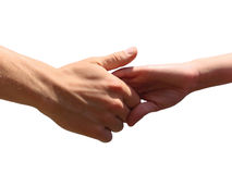 Hand in a hand Royalty Free Stock Photography