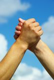 Hand in hand Stock Image